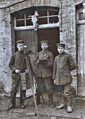 German visual signaling team. German negative ca1914 NARA111-SC-37532-ac (over 14 MILLION views Thanks) Tags: germanarmy ww1 worldwari france 19141918