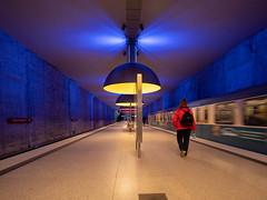 Underground station Westfriedhof Munich (berndkru) Tags: leicadg818f2840 panasonicdcg9 münchen munich westfriedhof ubahn underground