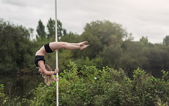 (dimitryroulland) Tags: nikon d750 85mm 18 dimitryroulland green natural light rennes lake nature pole dance dancer poledance poledancer performer art artist sport fit