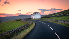 Remote... (Lee Harris Photography) Tags: landscape road pennines building architecture grass field moorland uk sunset orange wall stone cloud outdoor colourful contrast lumixg9 wideangle sky