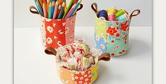 Basket Gifts : Instructions Included for Two Sizes! These patchwork cups have so many uses and … (giftsmaps.com) Tags: gifts