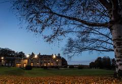 Wortley hall at dusk (2) (Darren Speak) Tags: autumn tree hotel dusk dark night wortleyhall