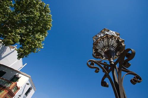 Street Light, House and Tree
