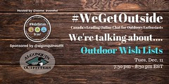 @algonquinoutfit : RT @Some_Eventful: 'Tis the giving season.... are you giving a special someone something from their Outdoor Wish List? Let's chat about it! #WeGet Outside Chat. Tonight at 7:30 pm est. It's our final chat of the year! https://t.co/EpyG4 (AlgonquinOutfitters) Tags: ifttt twitter specific user photos