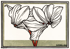 Cyclamen (1920) by Julie de Graag (1877-1924). Original from The Rijksmuseum. Digitally enhanced by rawpixel. (Free Public Domain Illustrations by rawpixel) Tags: antique art artistic artwork cyclamen drawing floral flower handdrawn illustrated illustration illustrator juliedegraag old pdrijks publicdomain rijksmuseum sketch stamp vintage woodcut