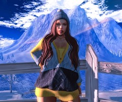 Now I'm happy ! (Silvia Galtier) Tags: silviagaltier secondlife sl alananazareowyn jaradnoor noor pose winter snow jarad blog bento seniha truth