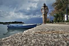 rain is approaching II (marcostetter) Tags: nature barefoot jeans landscape hiking walking feet boat nin croatia