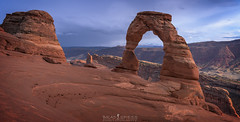 A Delicate Job (ihikesandiego) Tags: sunset delicate arch arches national park southern utah moab geology sky clouds