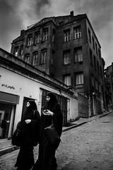 2 (㋡ Aziz) Tags: women street balad istanbul fujifilm bw mono noir black dark contrast composition streetart building citylife xt2 1655 white light sky clouds windows portrait outside blackandwhite grey walk
