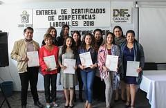 Entrega de certificados por Competencias Laborales 2018