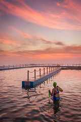 A Beautiful Start to the Morning (Brian Bornstein) Tags: rockpool sunrise southcurlcurlrockpool swimmer ocean brianbornstein water southcurlcurl sydney canon6d pastels nsw