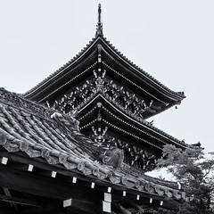Shinnyodo pagoda (Tim Ravenscroft) Tags: pagoda temple shinnyodo kyoto japan buddhist architecture monochrome blackandwhite blackwhite