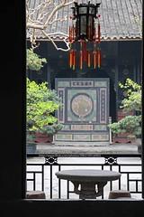 Anren, Liu Wencai's Manor (blauepics) Tags: china sichuan province provinz anren house haus architecture architektur liu wencai manor museum gate tor chinese landlord chinesischer gutsherr courtyard innenhof lamp lampe framing rahmen