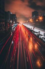 Chasing Cars (ibtihajtafheem) Tags: roadtrails road lighttrails lighting cars chasingcars night nightscape nightscaping nightshooters nightcolors nightphoto nightsky nightshooterz nightphotography moodygram moodytones moodytone