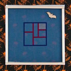 DebBee's Treat - Outline (GATACA1952) Tags: needlepoint needlepointer canvaswork dmc kreinik needlework handmade craft homedecor texture countedneedlepoint countedcanvaswork floss fibre fibreart blue debbierowley debbee'sdesigns neddleminder bat