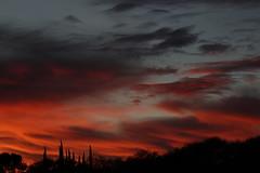 Sunset 12 23 18 #09 (Az Skies Photography) Tags: sunset sun set dusk twilight nightfall sky skyline skyscape cloud clouds red orange yellow gold golden salmon black december 23 2018 december232018 122318 12232018 rio rico arizona az rioricoaz arizonasky riorico arizonaskyline arizonaskyscape canon eos 80d canoneos80d canon80d eos80d