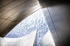 Walt Disney Concert Hall Sky Between Curves (evwingate) Tags: california southern socal walt disney concert hall los angeles downtown la dtla wdch frank gehry curves architecture building
