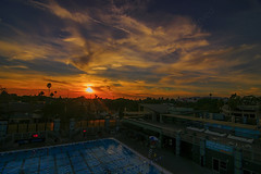 04 (morgan@morgangenser.com) Tags: sunset pretty beautiful red orange colorful evening dusk clouds blue palmtree santamonicacollege smc silhouette sun yellow cool