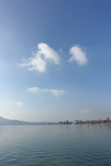 Lake Annecy @ Petit Port @ Annecy-le-Vieux (*_*) Tags: europe france hautesavoie 74 annecy annecylevieux january winter hiver 2019 morning lac lake petitport lacdannecy lakeannecy sunny savoie fog