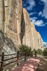 Inscription Trail in El Morro National Monument (Lee Rentz) Tags: antiquitiesact cibolacounty coloradoplateau elmorro elmorronationalmonument inscriptionrock inscriptionrocktrail newmexico theodoreroosevelt trailoftheancientsbyway accessible america americanwest archaeological archaeology cliff cultural culture desert dry fence handicapped historic history interpretation interpretive landscape nature northamerica oasis path pathway paved pool promontory railing rock route sandstone source southwest steep stone trail usa vertical wall water wateringhole west