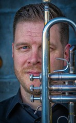 pbc18 (Robert Borden) Tags: person people man headshot trumpet instrument music detail 50mm 50mmlens portrait portraitphotography fuji fujifilmxt2 fujiphotography tempe phoenix az arizona southwest northamerica us usa pbc phoenixbrasscollective brass phxbrass