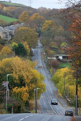 Halifax Old Road ...... (Halliwell_Michael ## Offline mostlyl ##) Tags: calderdale westyorkshire nikond40x 2018 autumn autumncolour shibden shibdenvalley trees perspective road roads landscape
