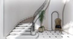 Don't Look Back (Loegan Magic) Tags: secondlife stair chair interior tile