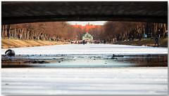 Winter in Nymphenburg (lichtauf35) Tags: vanishingpoints winterfun nymphenburg pov framed amnymphenburgerkanal frozen ef70200f4lisusm 5dmk2 lightroom acdsee hubertusbrunnen lichtauf35