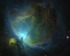 M42 - Orion nebula in HST palette (StormLV) Tags: m42 orion nebula ha oiii sii hydrogen sulfur oxygen gas astrometrydotnet:id=nova3157739 astrometrydotnet:status=solved