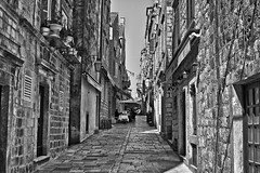 Alone in the gorge (Zoom58.9) Tags: houses building bw street remember canon eos 50d
