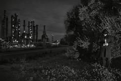 Prayer (nicolamarongiu) Tags: biancoenero blackandwhite monocromo preghiera prayer notte industria inquinamento candela concept concettuale conceptual meditazione sardegna sardinia italy sarroch surrealismo surreaiism