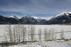 Twin Lakes Winter (Aaron Spong Fine Art) Tags: twin lakes winter colorado hope peaks peak aspens snow snowy 4