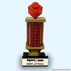 BricksLA 2018 MOC of Note Trophy (bruceywan) Tags: lego moc brucelowellcom bruceywan brucelowell bricksla note trophy los angeles