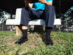 Say something... (polmas2010) Tags: socks shoes black leather suits oxford captoe shoe