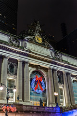 Grand Central Station (mbinebrink) Tags: newyorkcity newyork nyc christmas xmas december sony a7ii tamron grandcentral grandcentralstation lights decorations festive night nighttime wreath