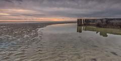 The shallow end. (Through Bri`s Lens) Tags: sussex worthing lowtide lowtidereflection rampionwindfarm sand sea groynes brianspicer canon1635f4 canon5dmk3 lee09softgrad