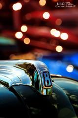 Vintage V8 Powered Ford (Hi-Fi Fotos) Tags: vintage ford 8 v8 badge hood ornament chrome bokeh antique car detail number nikon d5000 hififotos hallewell dx
