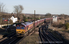 EWS No 66055 Barnetby East Signal Box (GCR 1915) 17th December 2013 (robinstewart.smith) Tags: ews class 66 hoppers barnetby east signal box 2013