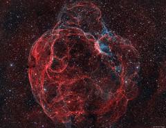 Simeis 147 Supernova Remnant (Martin_Heigan) Tags: supernovaremnant simeis147 spaghettinebula sharpless2240 snrg1800017 ha oiii bicolor bicolour hydrogenalpha narrowband wavelengthsoflight electromagneticspectrumoflight science physics martinheigan astronomy astrophotography mhastrophoto universe cosmos abstractunivers spaceart starstuff deepspace widefield telescope apo mosaic stellarexplosion amateurastronomy backyardastronomy southernafricaastronomy southafricaastrophotography filamentarynebula filamentaryremnant pareidolia abstract doublyionizedoxygen iono2 hydrogen spectrum light em flickrexplore exploration space stellar stars dustandgas astrometrydotnet:id=nova3144256 astrometrydotnet:status=solved