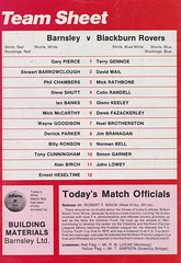 Barnsley vs Blackburn Rovers - 1983 - Back Cover Page (The Sky Strikers) Tags: barnsley blackburn rovers oakwell review football league division two the official match day magazine 35p