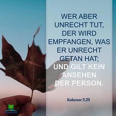 Kolosser 3,25 (bibel online) Tags: heiligergeist glauben retter daslamm gottliebt mich gnade biblestudy songsofpraise anbetung zeugnis weisheit anmut bibel evangelium predigen herr christus gott jesus