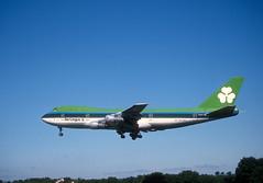 Aer Lingus 747 'EI-ASJ' (Longreach - Jonathan McDonnell) Tags: aerlingus slide scanfromaslide 1980s boeing 747 747100 dublinairport eidw 1989 15071989