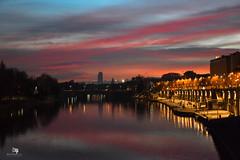 Ora blu (_a_l_e_s_s_i_o__c_) Tags: torino turin tonight tramonto sunset fiumepo piemonte piedmont italia italy city città landscape paesaggi reflections riflessi allaperto photography fotografia nikon nikond3300 nightphotography lights luci