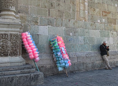 (shadowplay) Tags: oaxaca mexico zocalo cottoncandy cathedral leaning
