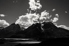 Torres del Paine (Hari Haru) Tags: landscape nature travel trekking lake water blackandwhite torresdelpaine patagonia chile mountains
