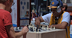 Chess In Public (Scott 97006) Tags: chess board game guys play pieces public men war concentration recreation