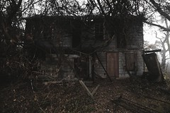 Simas House (SkylerBrown) Tags: abandoned abandonedhouse architecture creepy dark farmhouse fog haunted hauntedhouse house ominous overcast scary spooky