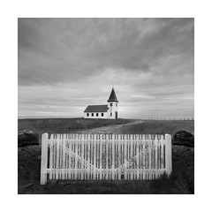 Gated community (Nick green2012) Tags: iceland square church minimal silence blackandwhite landscape