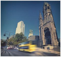 Westberlin (marcuskuenzel) Tags: berlin city stadt deutschland foto photo impression west church gedächtniskirche memorial bus speed