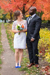 Fall Wedding (A Great Capture) Tags: inlove mp couple 2470 fullframe 6dmarkii fancy suit dress fullbody portrait people day wedding firstlook wife husband woman man autumn groom bride fall